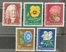 Série PRO JUVENTUTE 1958 : Neuf MNH ** , Mi 663-667