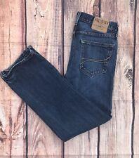 Hollister Mens Jeans - 28/30 -  Medium Blue  - BUTTON FLY