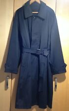Canali Men's Black Trench Coat with Belt & Removable Lining Size 50 IT = 40 UK