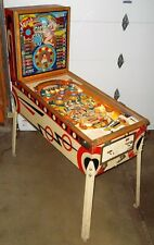 1958 Gottlieb Sunshine Woodrail Pinball Machine w/Backbox Animation & New Bkgls!