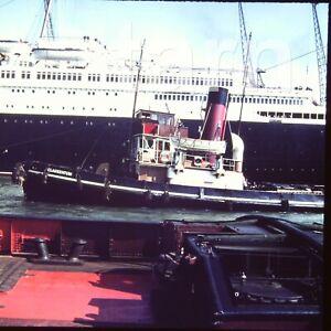 60 x 60 glass slide Cruise Ship c1950s  r8