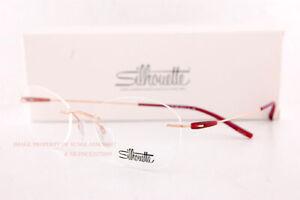 New Silhouette Eyeglass Frames Dynamics Colorwave 5500 BA 3530 Rose Gold/Red 49