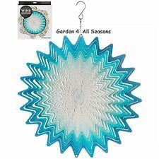 """12""""/30cm BLUE WHIRL Stainless Steel Wind Spinner Sun Catcher Hook Garden Gift Pk"""
