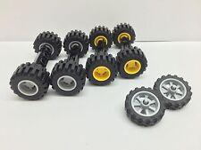 LEGO - 3 Juegos De Nuevo Ruedas - Amarillo & Gris - Motocicleta / Lote Piezas