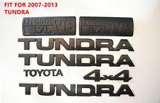 For 2007-2013 Toyota Tundra Matte Black Out Emblem Badges tailgate 7 Piece Kit