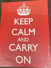 """Keep calm and Carry On,  13"""" x 18"""" Canvas on Wooden Frame"""