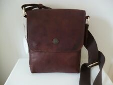 Genuine Quality Italian Leather Brown Messenger/Shoulder/Cross Body Bag BNWT