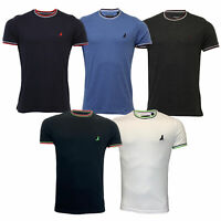Mens T Shirt Brave Soul Short Sleeved Tipped FEDERERB Top Crew Neck Summer New