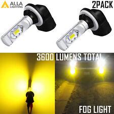 Alla Lighting 896 Fog Light Bulb Golden Yellow Bright Driving Foggy Safety Lamp