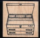 TOOLBOX TOOL CASE box Top Drawers MUSEUM OF MODERN RUBBER M730 wood CRAFT STAMP