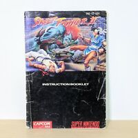 Street Fighter II 2 SNES Super Nintendo Instruction Booklet Manual
