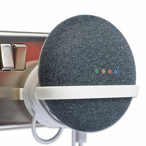 Plug Mount for Google Home Mini, Wall Mount Bracket Holder Tiny White P3D-Lab®