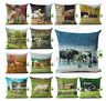 Deluxe FARM ANIMAL Cushion Covers! Retro COW HORSE PIG Painting Art 45cm Gift UK