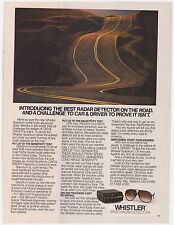 Original 1982 Whistler Speed Radar Detectors Print Ad