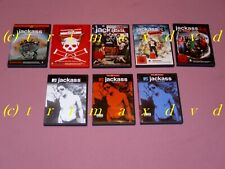 8x DVD _ Jackass The Movie & Nummer Zwei & 2.5 & 3 & 3.5 & Vol.1 & Vol.2 & Vol.3