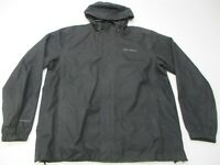 EDDIE BAUER Jacket Men's Size L Waterproof Full Zip Long Sleeve Black Hooded