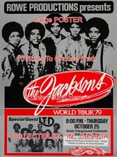 "THE JACKSONS 1979 World Tour w/ LTD Columbus OHIO = POSTER 10 Sizes 18"" - 4.5 FT"