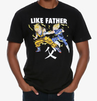Dragon Ball Z LIKE FATHER GOKU VEGETA T-Shirt NEW Authentic & Official
