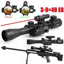 Tactical 3-9X40EG Red/Green Rifle Scope+Red Laser Sight+5MOA Holographic Sight