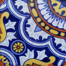 C#115) MEXICAN TILES CERAMIC HAND MADE SPANISH INFLUENCE TALAVERA MOSAIC ART