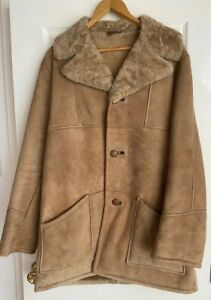 Vintage Mens Brown Sheepskin Coat - Excellent condition, never worn!