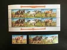 NEW ZEALAND. 1984 HEALTH .MINI STAMP SHEET & SET OF THREE -:-  VERY NICE M.U.H.