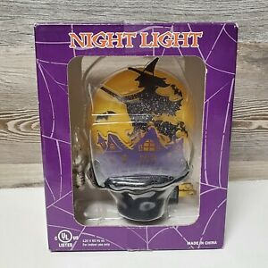 Costco Flying Witch with Haunted House Night Light Halloween New in Box