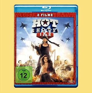 ••••• Hot Shots 1 + 2 (Charlie Sheen) (2 Blu-rays) ☻