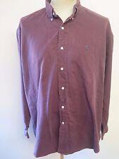 """Ralph Lauren Polo Men's violet à manches longues Chemise décontractée XL 50-52"""" Euro 60-62"""