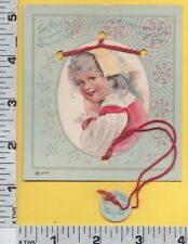 C448 T. W. Hobson clothes string puzzle trade card San Jose, CA child girl