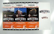 SAN FRANCISCO GIANTS 2014  WORLD SERIES FULL TICKET STRIP STUB AT&T PARK 6000030