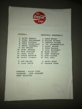 1993 FINALE COPPA COCA COLA Arsenal vs Sheffield Wednesday foglio unico programma