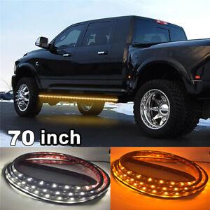 "2x 70"" Running Board Side Step LED Light Strip Bar For Car SUV Pickup JEEP VANS"