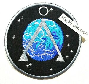 EMBROIDERED  STARGATE SG-1 PROJECT EARTH LOGO PATCH  IRON /SEW ON BADGE 9.5CMdia