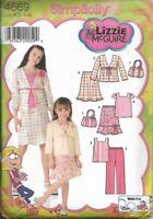 Girls Top Skirt Pants Jacket Purse LIZZIE MCGUIRE Sz 7-14 Uncut Simplicity 4669