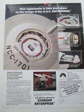 Star Trek Advert for Die-cast Enterprise & Advert