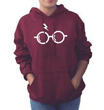 Harry Potter Glasses Lightning Bolt Hogwarts College Hoodie Adults Unisex Top