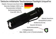 Taktische Taschenlampe UniqueFire, Cree LED XM-L-T6, SOS/Flashlight, 3000lm 1St.