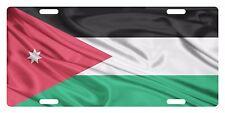 JORDAN  Flag Custom License Plate Arab Emblem Wave  Version