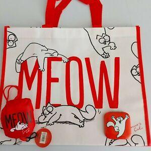 simon's cat shopping bag foldable bag simon's cat compact mirror gift bundle