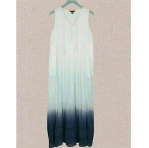Size Small - TOMMY BAHAMA Sleeveless Dip Dye Ombre Gauze Maxi Dress