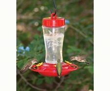 HOMESTEAD 12 oz. ETCHED GLASS HUMMINGBIRD FEEDER, FREE USA SHIPPING