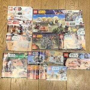 14 x original LEGO INSTRUCTIONS ONLY - LOT - STAR WARS - SWO005 RARE