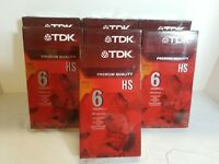 Lot of 7 TKD HS Premium Quality VHS Blank Tapes 6 hrs each T-120  NEW/SEALED