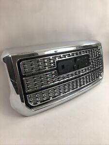 2015-2019 GMC Sierra 2500HD 3500HD Front Grille 84542600 Chrome Denali OEM GM