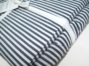 Pottery Barn Navy Blue Wheaton Stripe Organic Cotton Twin XL Sheet Set New