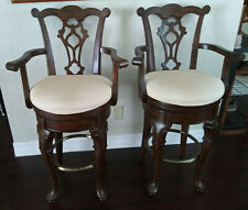 Set of Two Swiwel Bar Stools by Powell Model 987-481A