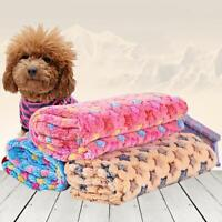 Pet Small/Large Warm Star Print Dog Puppy Cat Fleece Blanket Bed Mat Cushion Pad