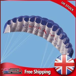 Dual Line Stunt Parafoil Parachute Rainbow Sports Beach Kite (Blue)