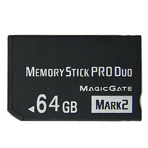 64GB 32GB Memory Stick Pro Duo Adapter Card for PSP 2000 3000 Cybershot Camera
